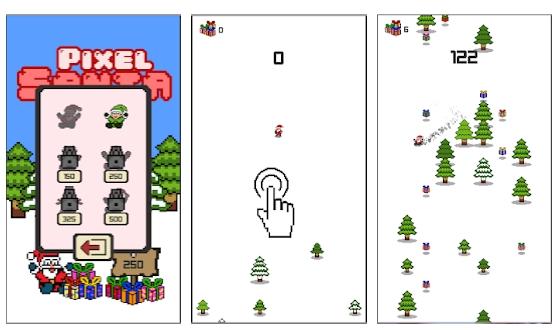 pixel-santa