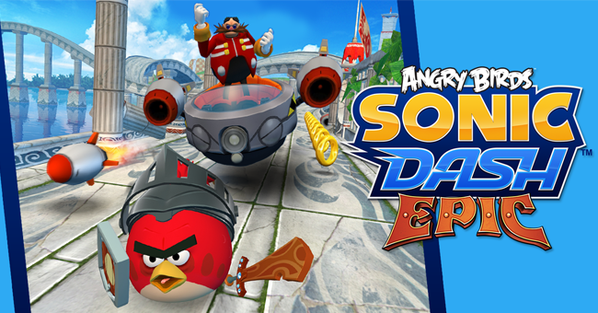 angry birds sonic dash