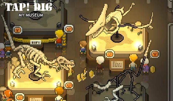 dinosaurios secretos de Tap Dig My Museum