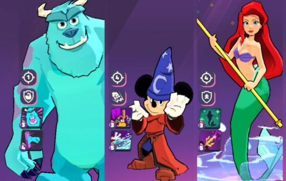 personajes en Disney Sorcerers Arena