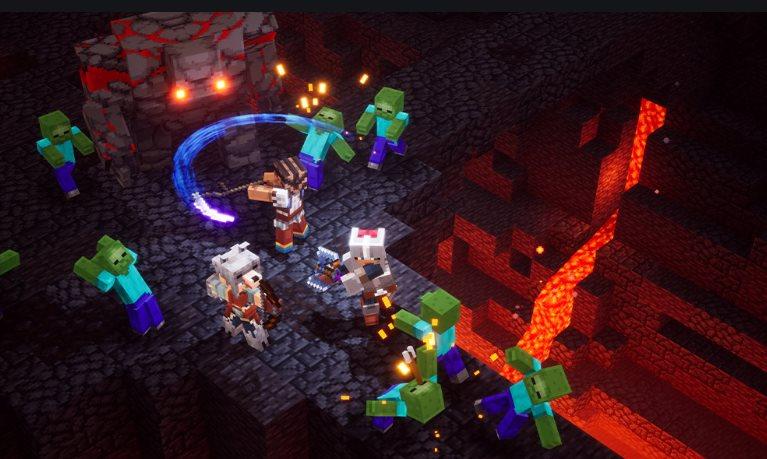 armas de Minecraft Dungeons