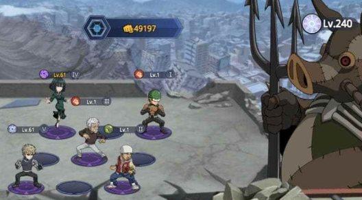 equipo en One Punch Man Road To Hero 2.0